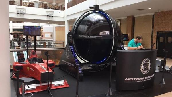 Shopping Crystal de Curitiba recebe o espaço Motion Sphere com simuladores de automobilismo