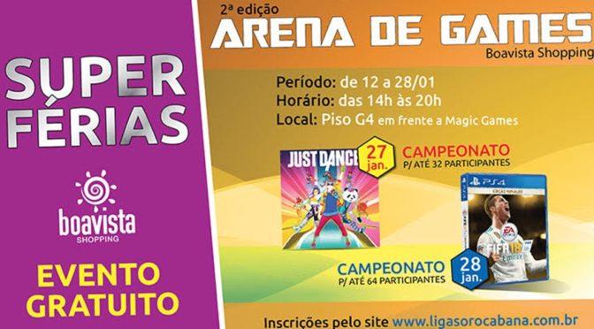 Boavista Shopping organiza 2º edição do Arena Games no final de Janeiro