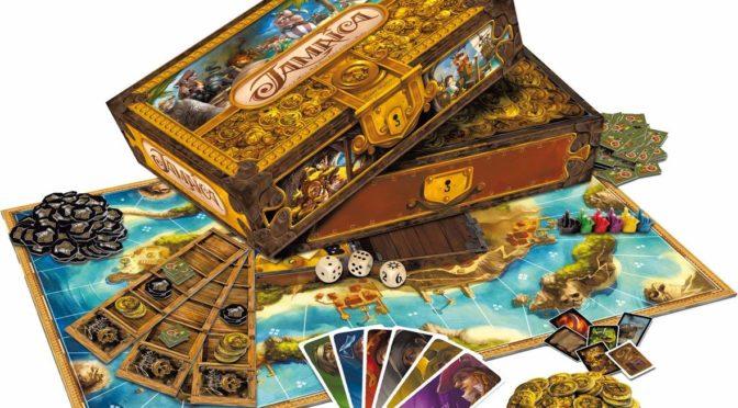 Galápagos Jogos traz para o Brasil o jogo de tabuleiro Jamaica, jogo de temática pirata