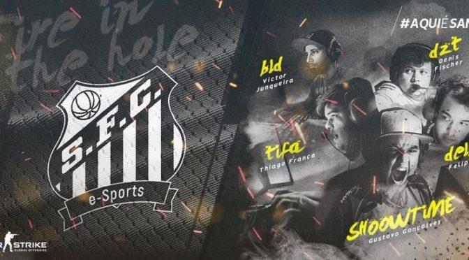 Essa é a nova lineup masculina do Santos e-Sports para os torneios de CS: GO