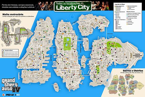 Mapa de Liberty City de GTA IV