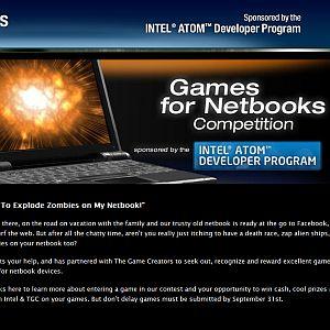 Intel promove campeonato de desenvolvimento de games indie para netbooks