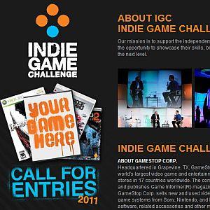 Mais um mês para quem quiser participar do concurso de desenvolvimento de jogos independentes IGC 2011