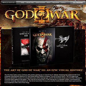 Livro traz arte de God of War III