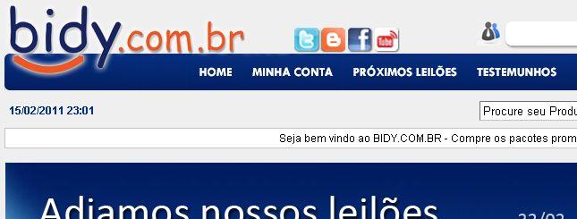 Leilão estreante Bidy colocará PSP com lance a partir de um centavo