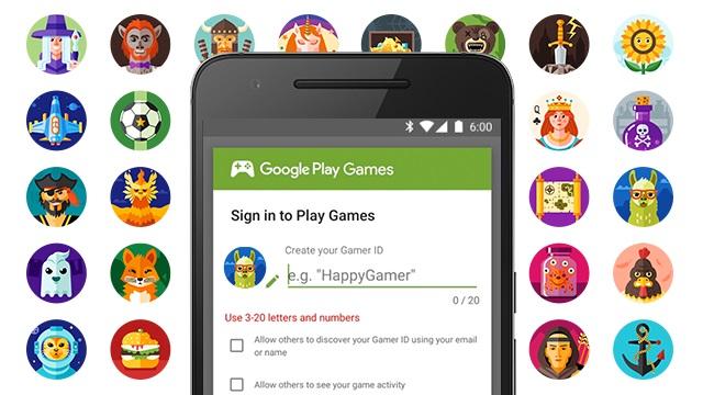 Google Play Games permite criação de Gamer ID e personalização de avatar