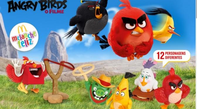 Nova coleção do McLanche feliz é do filme Angry Birds