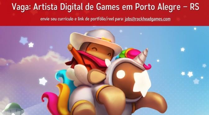 Vaga de emprego: Rockhead Games busca artista digital