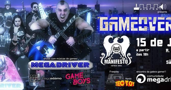 Manifesto Rock Bar sediará o festival Game Over São Paulo em junho