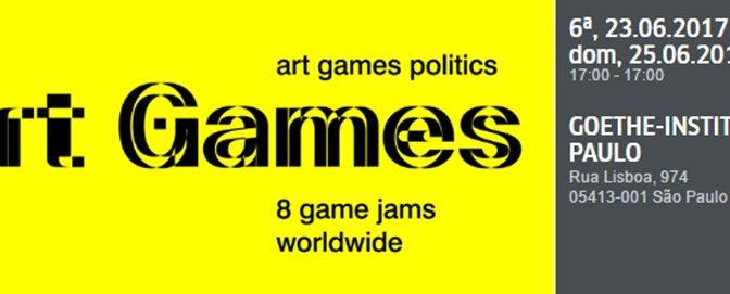 Goethe Institut promove ART Game Jam entre os dia 23 a 25 de junho em SP