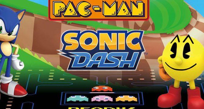 Pac-Man e Sonic unem forças pela primeira vez em crossovers para games mobile em evento limitado