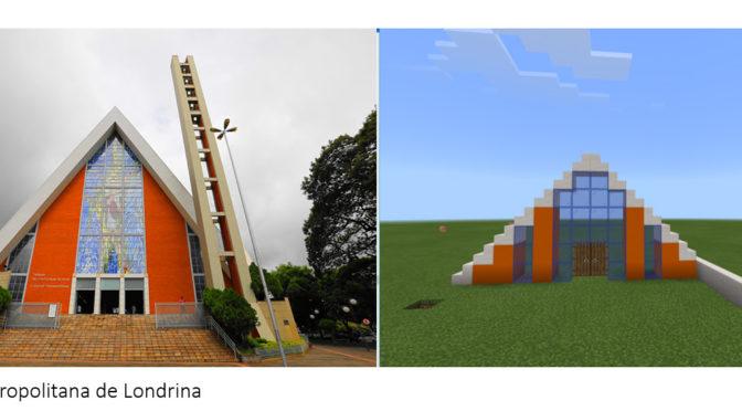 Alunos do Colégio Marista recriam pontos turísticos de Londrina usando Minecraft