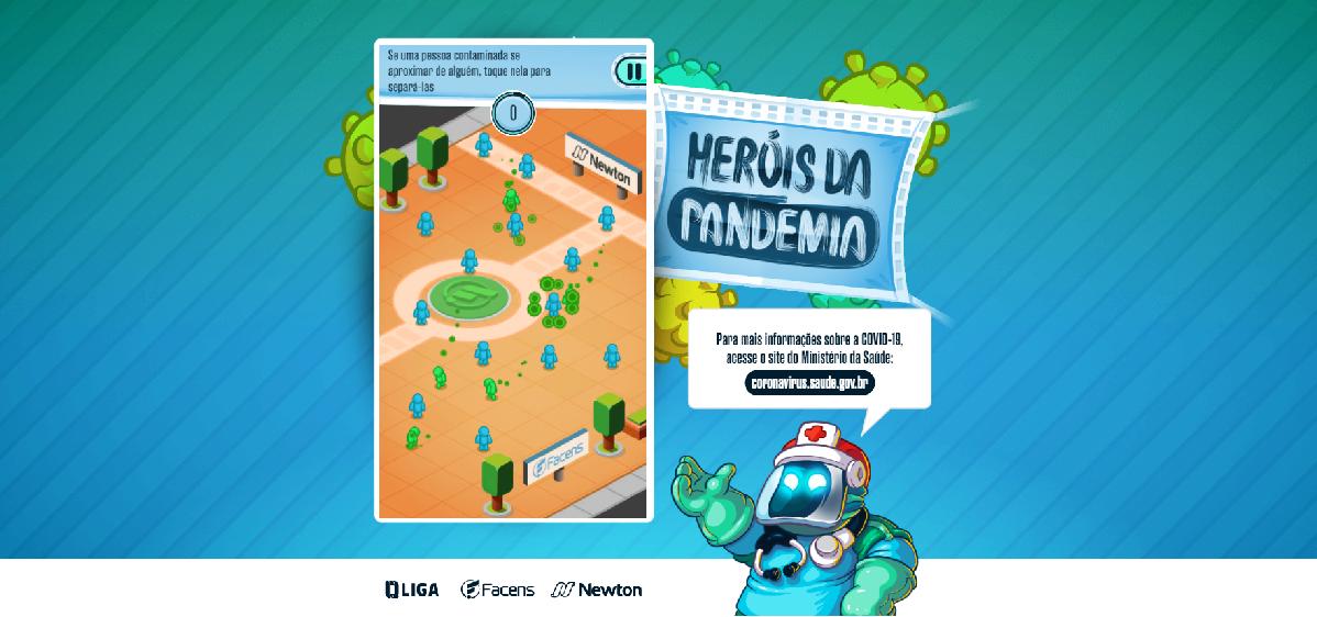 Heróis da Pandemia – Centro Universitário lança game educacional sobre novo coronavírus