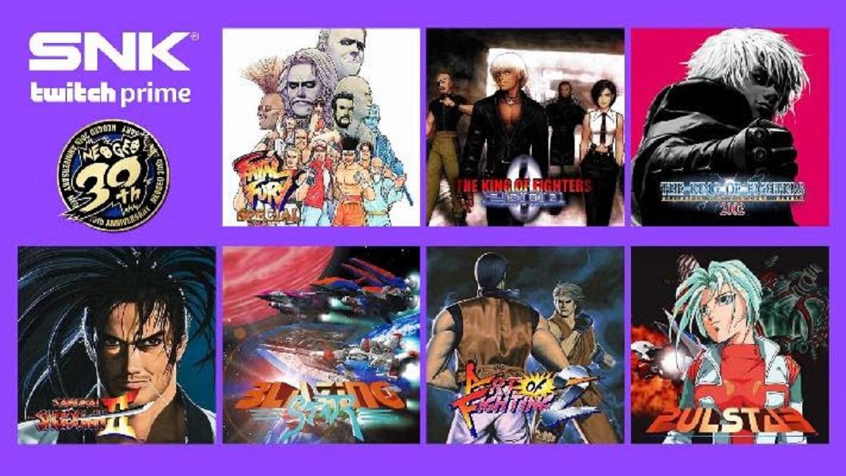 Twitch Prime vai oferecer sete jogos da SNK de graça