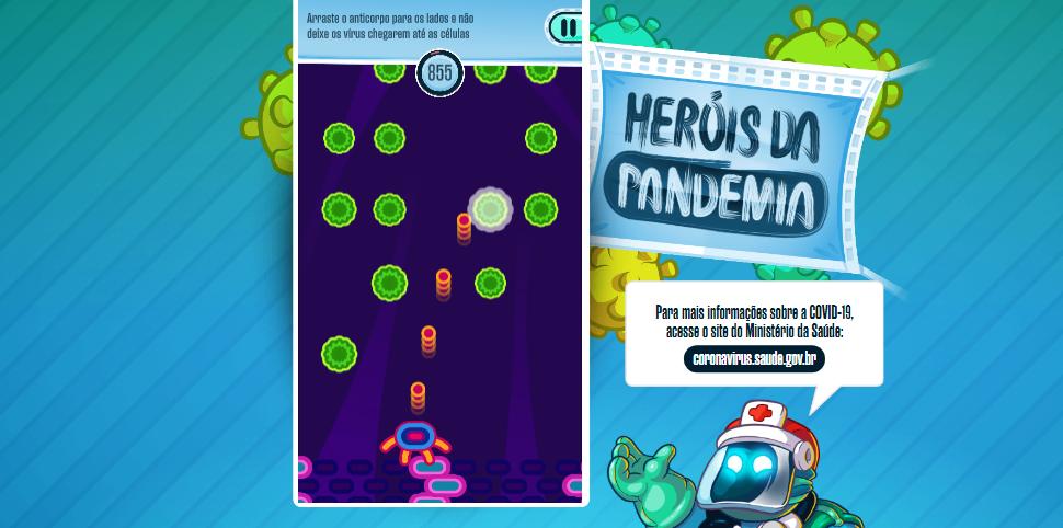 """Game """"Heróis da Pandemia"""" dá dicas para crianças se cuidarem durante a quarentena"""