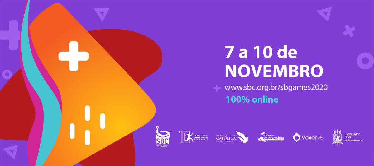 SBGames 2020 – evento completamente online começa em 06 de novembro