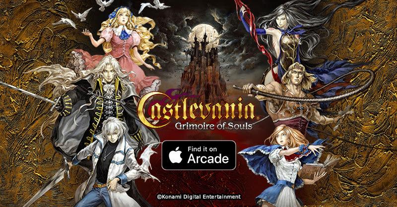 Konami anuncia que Castlevania: Grimoire of Souls chega em breve ao apple arcade